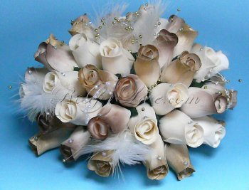 800 Wooden Rose White-Brown Buds (3 Color Options)