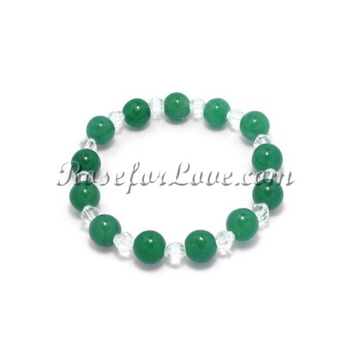 Jade & Crystal Braclet - Click Image to Close