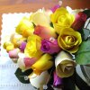 600 Half Blooming Yellow Wooden Roses