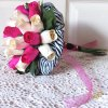 Wooden Rose Hot Pink Bridesmaid Bouquet