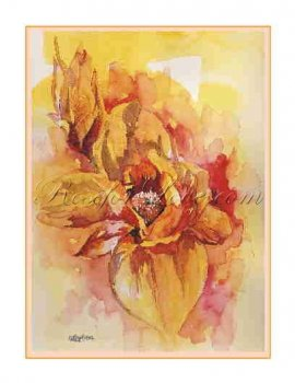 8 Watercolor Magnolias Greeting Note Cards