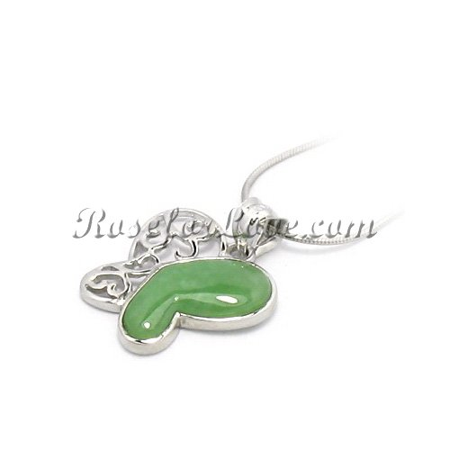 Jade Butterfly Pendant - Click Image to Close