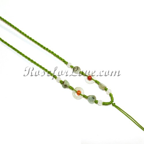Burma Jade Hand-Knit Chain - Click Image to Close